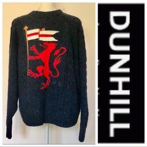 RARE Dunhill Cashmere Sweater Heraldic Logo M